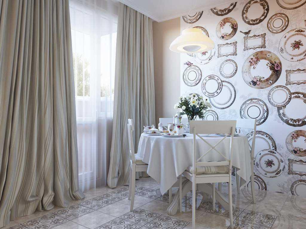 l'idée d'un bel intérieur de salon avec des assiettes décoratives sur le mur