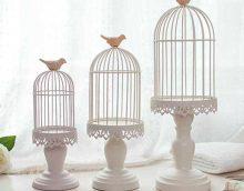 idée de design inhabituel d'un appartement avec une image de cage décorative