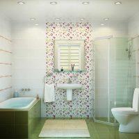 neparasta vannas istabas interjera variants dzīvokļa attēlā
