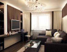 version du beau style du salon 17 mètres carrés photo