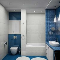 ideja par neparastu vannas istabas dizainu dzīvokļa attēlā