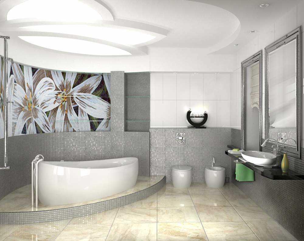 ideja par vannas istabas oriģinālo stilu