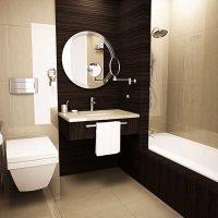 ideja par neparastu vannas istabas stilu dzīvokļa attēlā