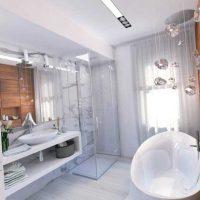 skaista vannas istabas stila iespēja dzīvokļa attēlā