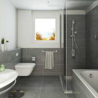ideja par neparastu vannas istabas interjeru dzīvokļa attēlā