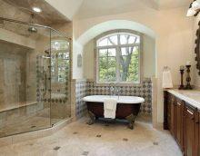 vannas istabas attēla neparastā stila versija