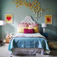 skaista sienas dekorēšanas foto variants