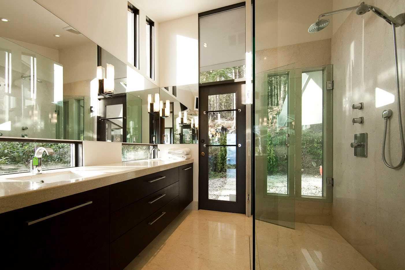 ideja par gaišu vannas istabas dizainu