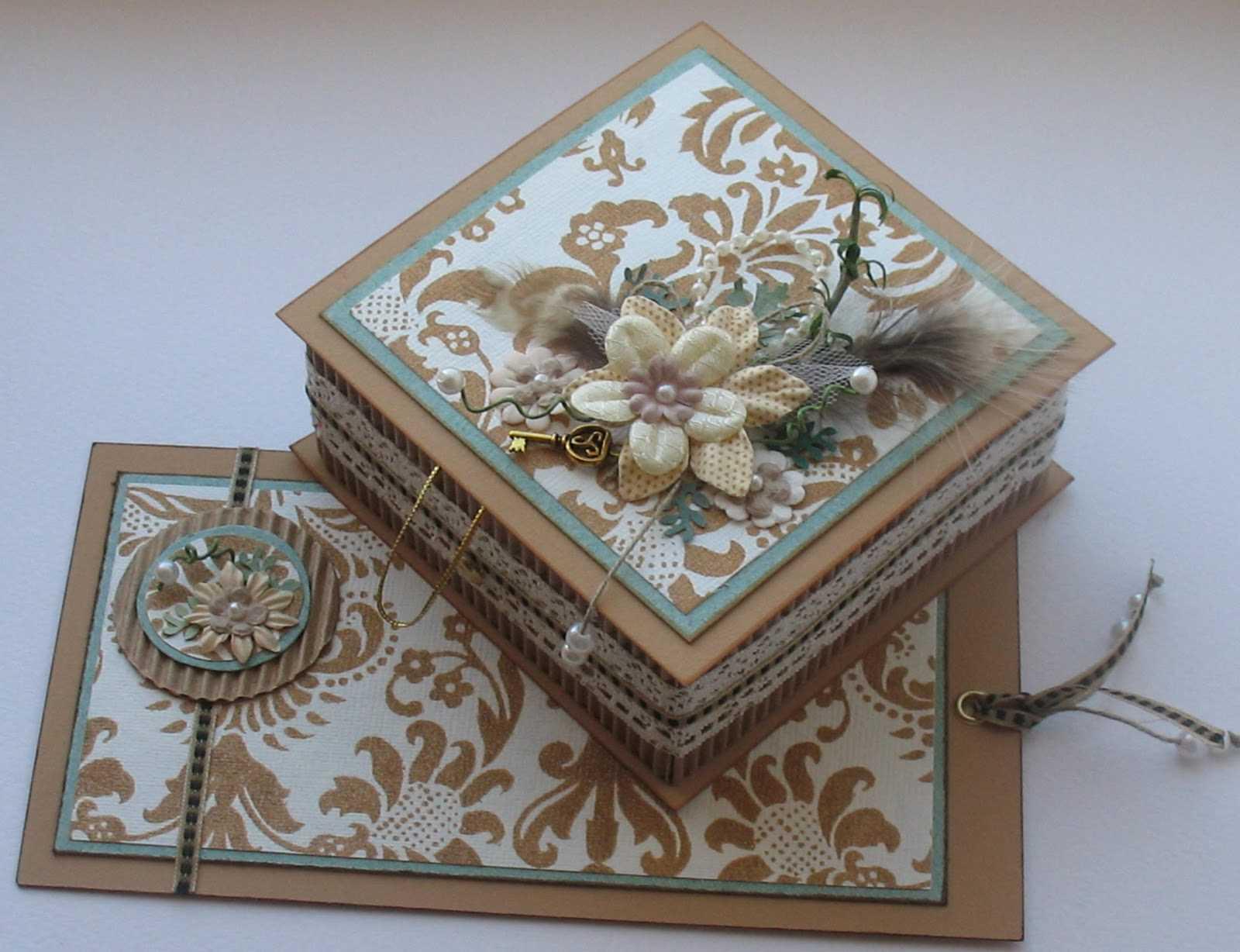 """ideja par rotaslietas kastes oriģinālo rotājumu """"dari pats"""""""