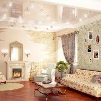 ideja par spilgtu sienu dekorēšanu istabu attēlā
