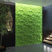 neparastas sienas dekorēšanas foto variants