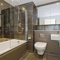 neparastā vannas istabas stila versija dzīvokļa attēlā