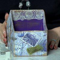 ideja par spilgtu kastes rotājuma attēlu