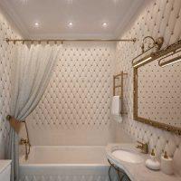 skaistā vannas istabas dizaina versija dzīvokļa fotoattēlā