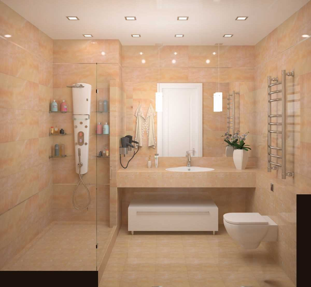 oriģinālā vannas istabas dizaina versija