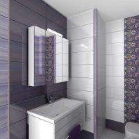 ideja par vannas istabas oriģinālo stilu dzīvokļa fotoattēlā