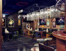 ideja par gaismas dizaina kafejnīcu bēniņu stila attēlā
