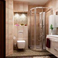 gaiša vannas istabas interjera iespēja 6 kv.m foto