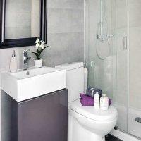 Vannas istabas skaista stila versija 6 kv.m attēlā