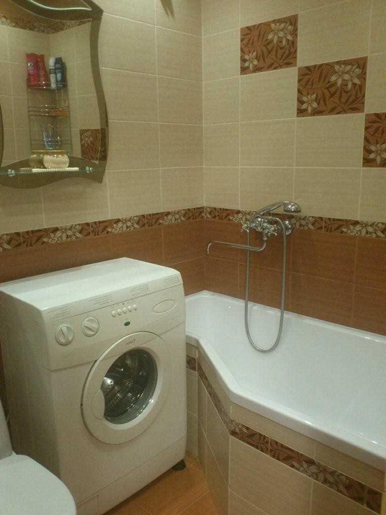 vannas istabas modernā stila versija 6 kv.m.