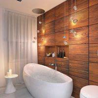 neparastā vannas istabas interjera versija 6 kv.m foto