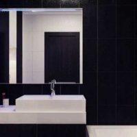 ideja par skaistu vannas istabas dizainu 6 kv.m attēlā