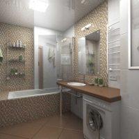 Vannas istabas skaista dizaina versija 6 kv.m attēlā
