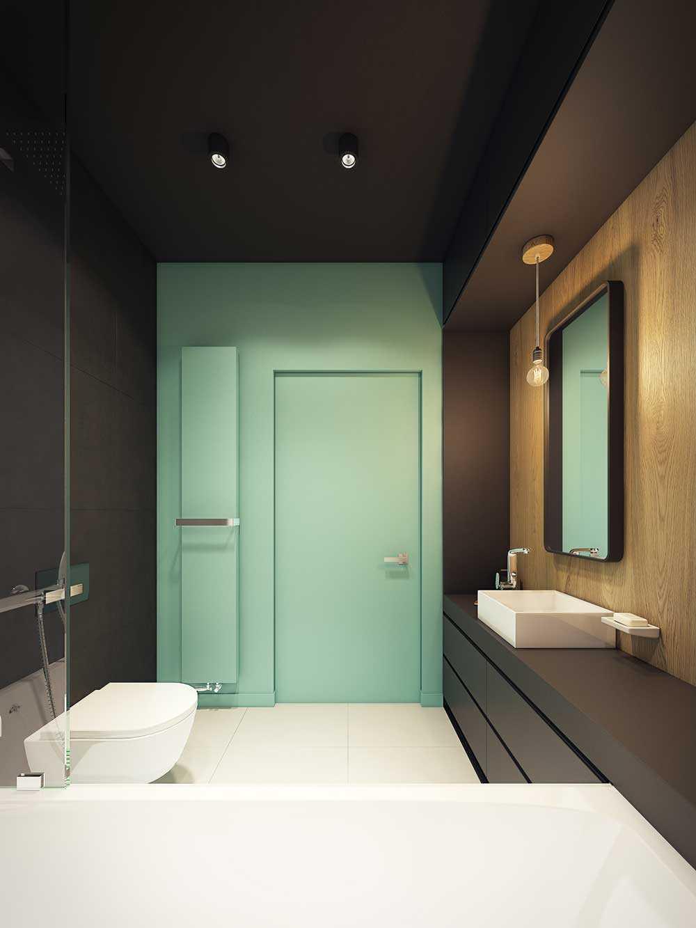 ideja par skaistu vannas istabas interjeru 6 kv.m platībā