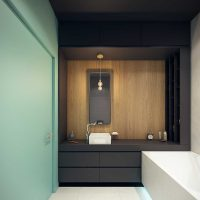 ideja par neparasta stila vannas istabu 6 kv.m foto