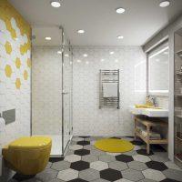ideja par gaišu vannas istabas dizainu 6 kv.m foto
