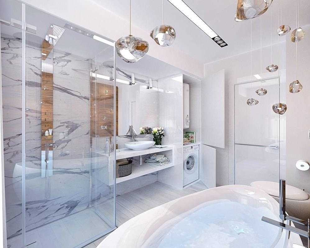 ideja par neparastu vannas istabas dizainu 6 kv.m platībā