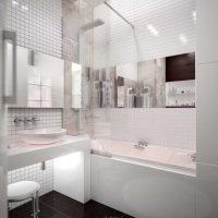 Ideja par mūsdienīgu vannas istabas dizainu 6 kv.m foto