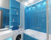 ideja par gaišu vannas istabas interjeru 4 kv.m attēlā
