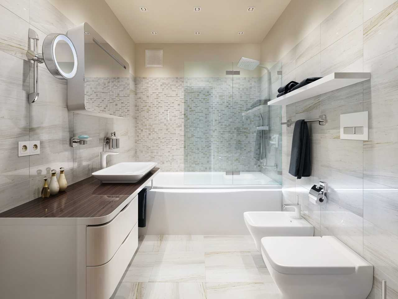 vannas istabas neparastā stila versija 6 kv.m.