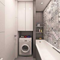 vannas istabas gaišā stila versija 6 kv.m foto