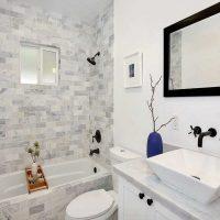 ideja par skaistu vannas istabas interjeru 6 kv.m foto