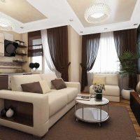 moderna dzīvokļa neparasta dizaina piemērs - 65 kv.m foto