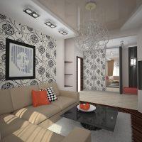 viesistabas skaistā stila versija 16 kv.m foto