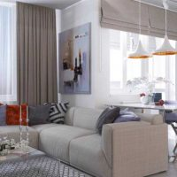 moderna dzīvokļa spilgta dizaina iespēja 65 kv.m attēlā