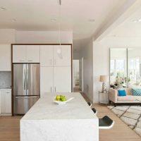 neparasta dzīvokļa dekorācijas variants 65 kv.m attēlā