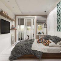 Moderna dzīvokļa spilgta dekora piemērs - 65 kv.m foto