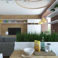 skaista 65 kvadrātmetru dzīvokļa dizaina piemērs
