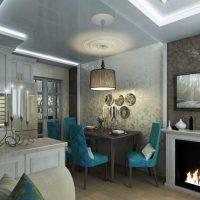moderna dzīvokļa skaista dizaina iespēja 65 kv.m foto