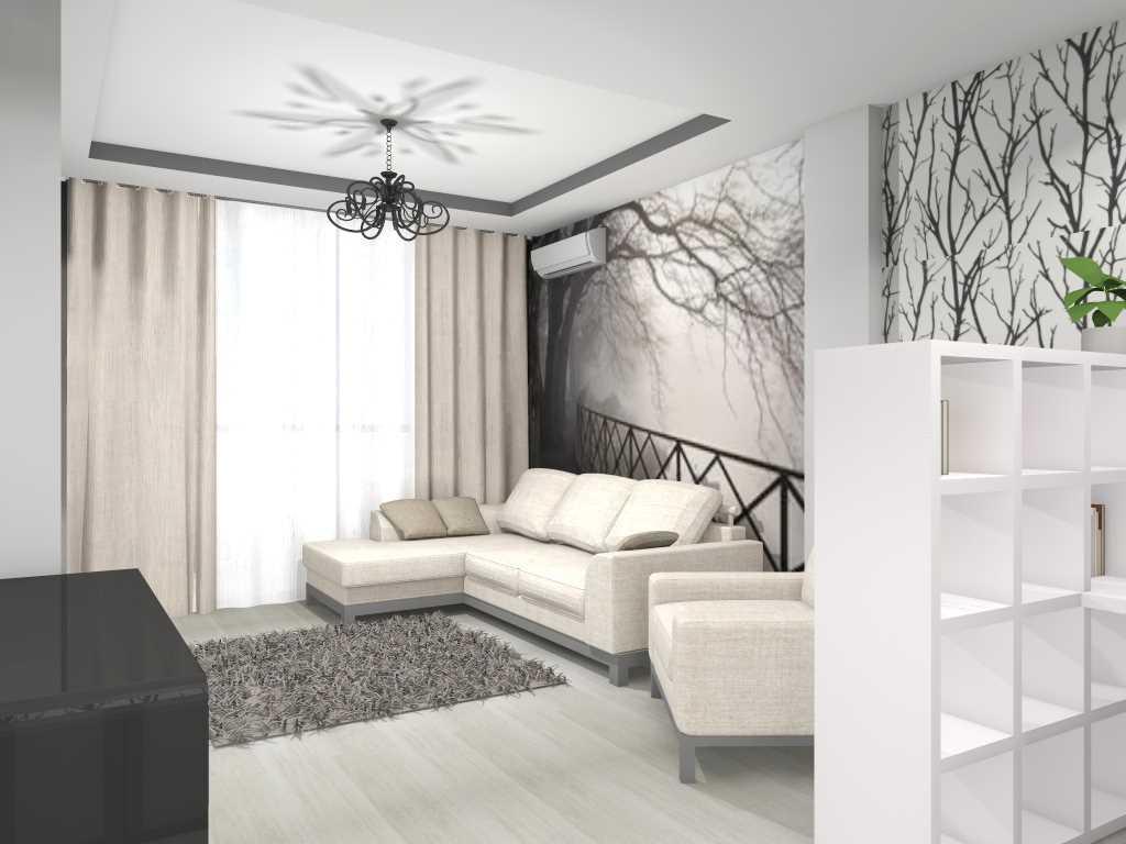 moderna dzīvokļa neparastā dizaina piemērs 65 kv.m platībā