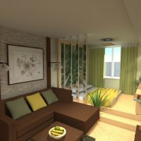 viesistabas skaistā dizaina 16 kvadrātmetru attēla versija