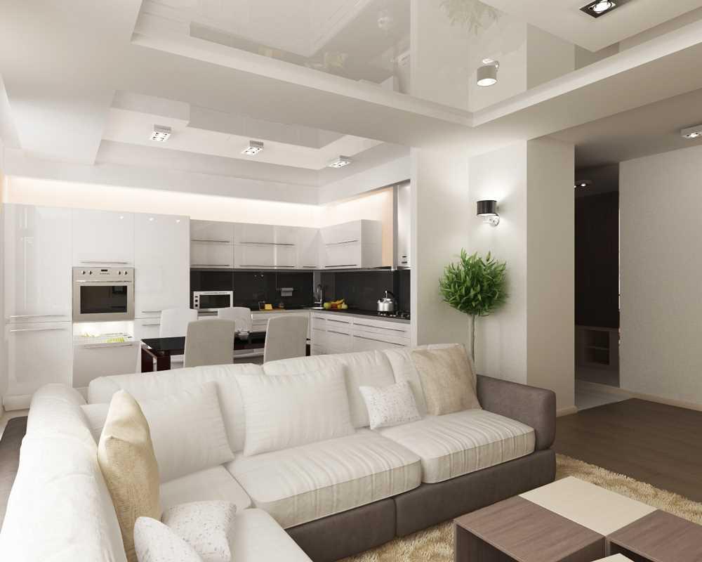 dzīvokļa gaišā dizaina variants 65 kv.m.