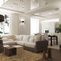 neparasta dzīvokļa dizaina piemērs 65 kv.m attēlam