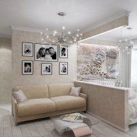 skaista viesistabas interjera versija ar 16 kv.m fotoattēlu