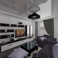 viesistabas skaistā interjera 16 kvadrātmetru attēla versija
