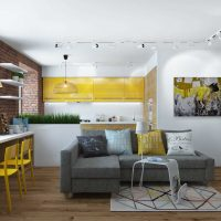neparasta dzīvokļa dizaina variants 65 kv.m foto